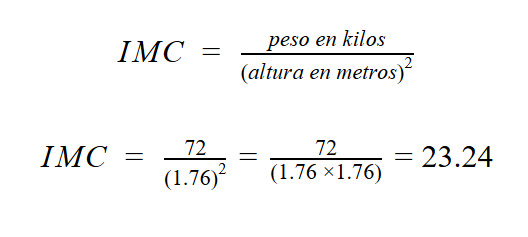 como se calcula el imc paso a paso