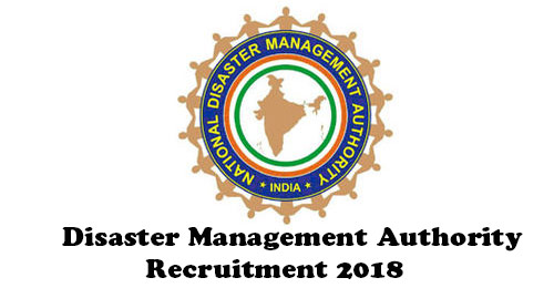 District Disaster Management Authority Recruitment 2018 for Post of Project Coordinator