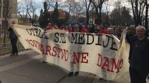 Croatian journalists protest