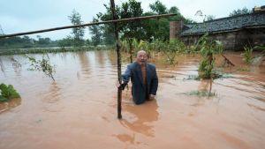 China floods farm