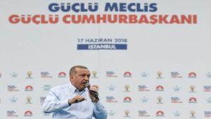 Erdogan on Sunday