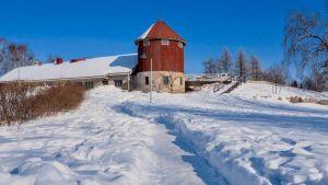 Finland farm snow