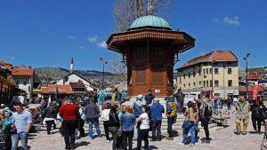 Tourists in BiH