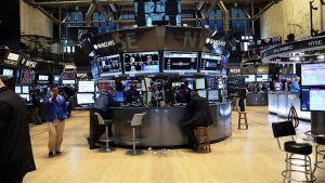 Empty stock exchange