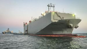 grounded car carrier