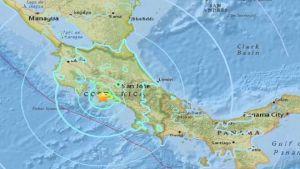 earthquake hits Costa Rica