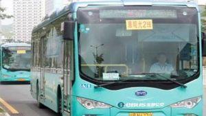 Shenzhen green bus