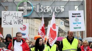 Bayer workers protest