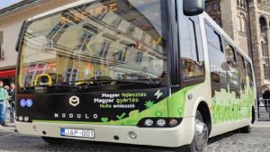 Hungary plastic bus