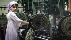 Asia factory worker