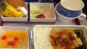 China Airlines meal