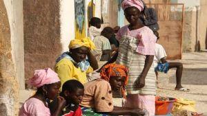 Senegal street market