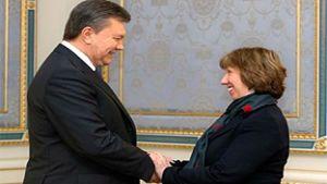 Yanukovich Ashton