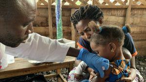 Congo measles vaccination