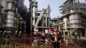 Petrochemical fire in Guangdong