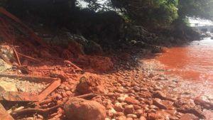 Spill in Basamuk Bay
