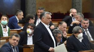 Orban in the parliament