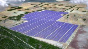 Solar power plant in Victoria