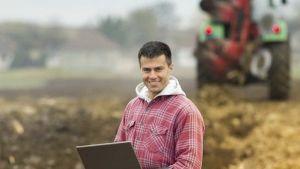 U.S. farmer laptop