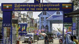 Myanmar's border