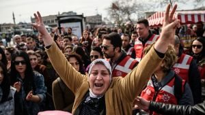 Women in Turkey protest