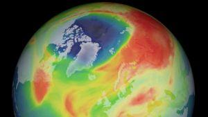 Ozone hole above Arctic