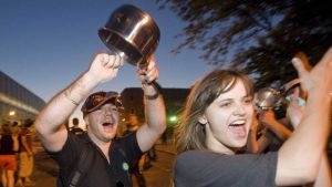 Pot-banging protest