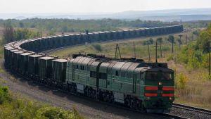 Russia cargo train