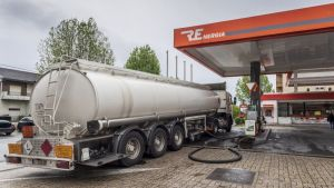 Fuel tanker drivers in Portugal