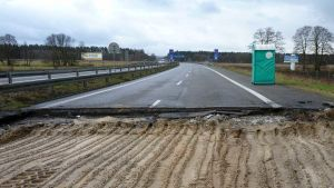 highway between Tuszyn and Czestochowa