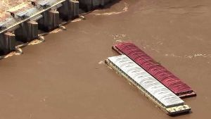 Runaway barges