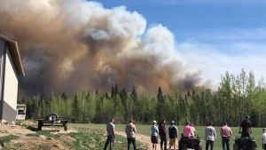Wildfire in central British Columbia