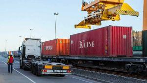 China Europe postal train