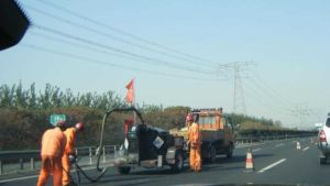 China road works