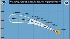 Douglas, Gonzalo, Tropical Depression