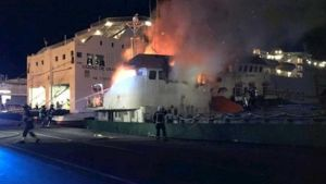 Fire on ship