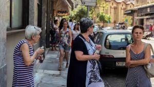 Greek street people