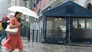 New York rainy street