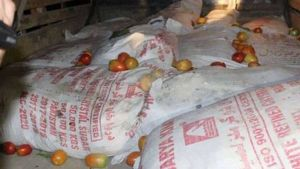 explosives discovered in vegetables truck