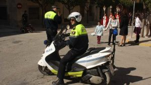 Officials from the Policia Nacional