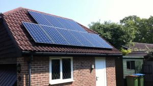 Solar panels on a UK home