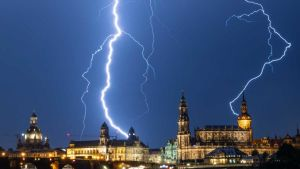 thunderstorms strike Berlin