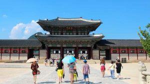 Tourists in South Korea