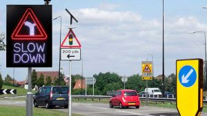 Multi-language traffic signs