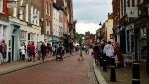 British town street
