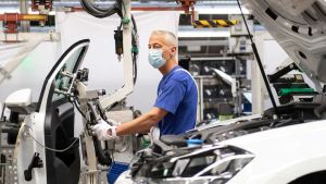 European factory workers