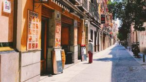 Shops in street