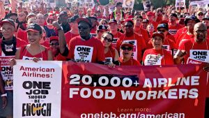 Airline workers protest