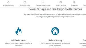 California wildfire website