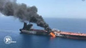 Explosion on Iranian tanker